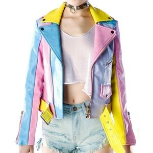 Unif color block jacket